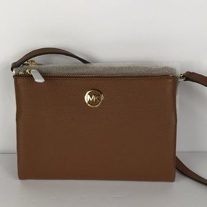 Michael Kors Fulton Luggage Crossbody Leather
